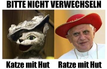 Katze, Ratze, Hut